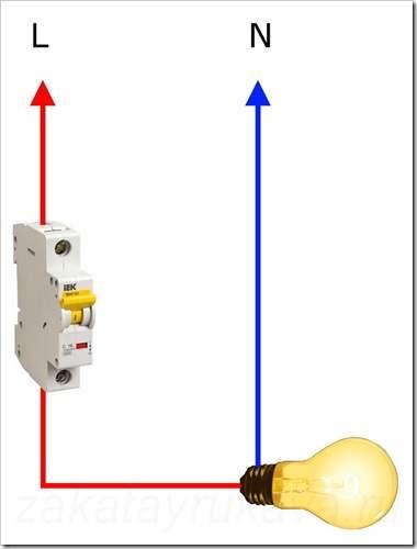 Как подключить однополюсный автомат