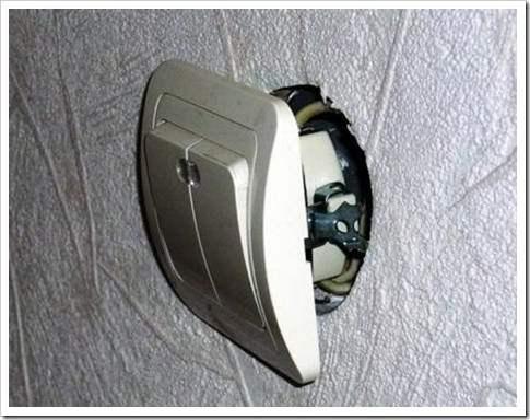 Как поменять выключатель света