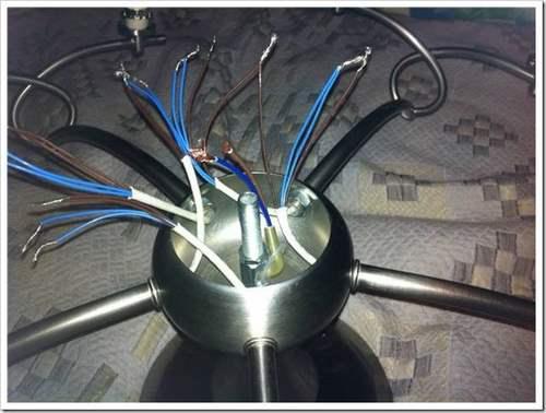 Как подключить провода к люстре?