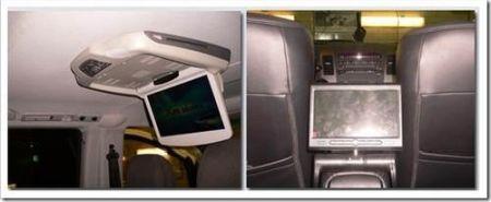Как установить и подключить потолочный монитор в машину?
