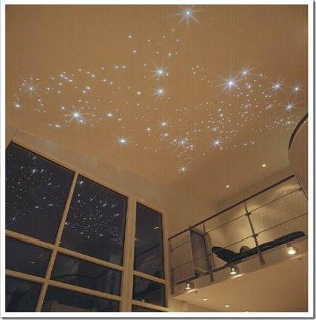 Оптоволоконное освещение: звездное небо