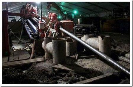 Расширение скважины для трубопровода
