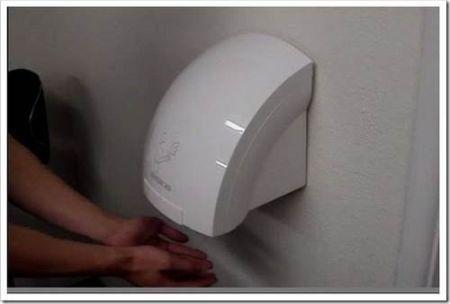 Корректная установка сушилки для рук в ванной
