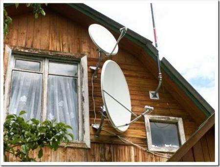 Использование спутниковой антенны на приусадебном участке
