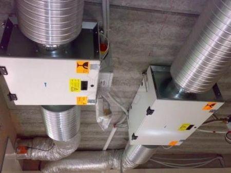 Монтаж приточно-вытяжной установки вентиляции