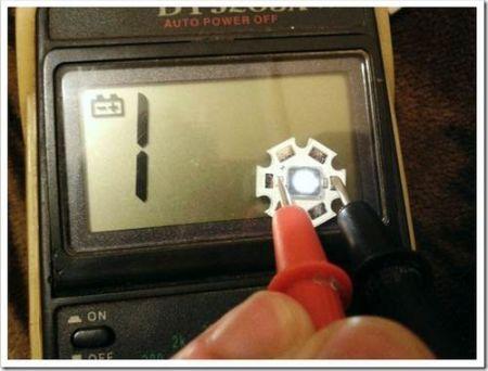 Тестирование светодиода на пригодность