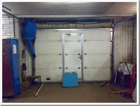 Подготовка к установке гаражных дверей