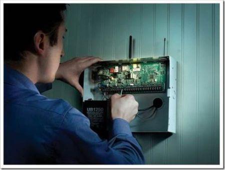 Прокладка электрических коммуникаций для охранной системы