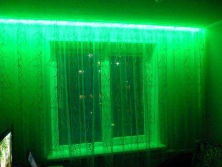 Подсветка окна светодиодной лентой своими руками