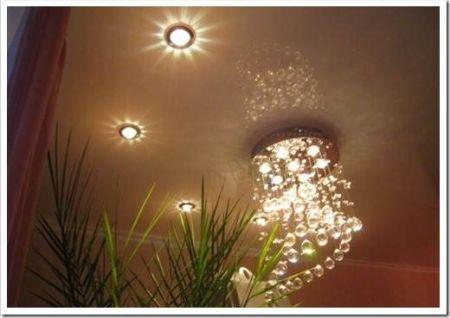 Светильники для натяжного потолка