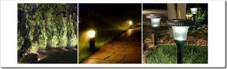 Декоративные светодиодные уличные светильники