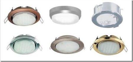 Виды светильников для подвесного потолка