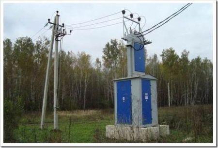 Осуществление монтажа столбовой трансформаторной подстанции