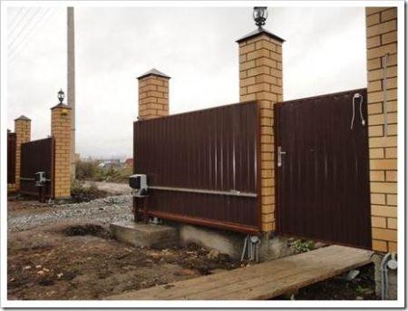 Как установить откатные ворота с электроприводом?