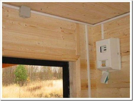 Пожаробезопасность электрической проводки в бане