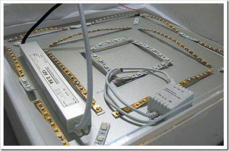 Создание светильника из светодиодной ленты
