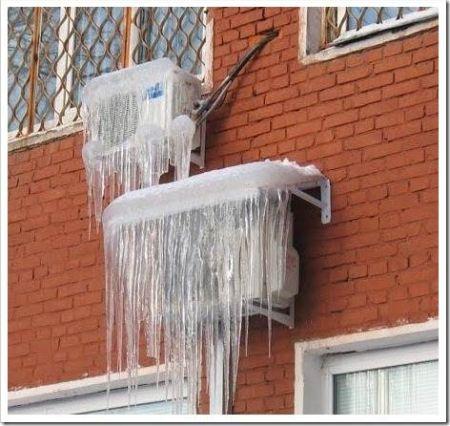 Защита кондиционера зимой