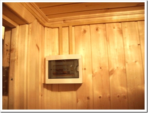 Электрика в бане: где размещать распределительный щит