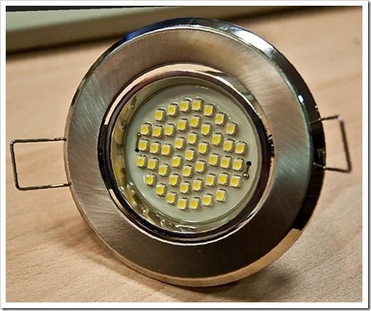Принцип монтажа светильников в натяжной потолок