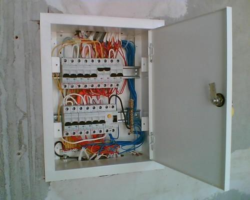 Как установить электрощит