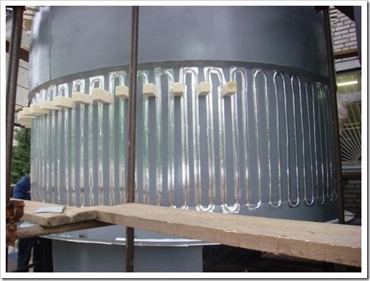Система обогрева резервуаров кабелем