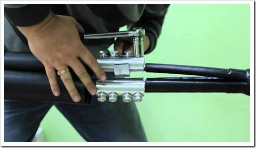 Монтаж концевых кабельных муфт