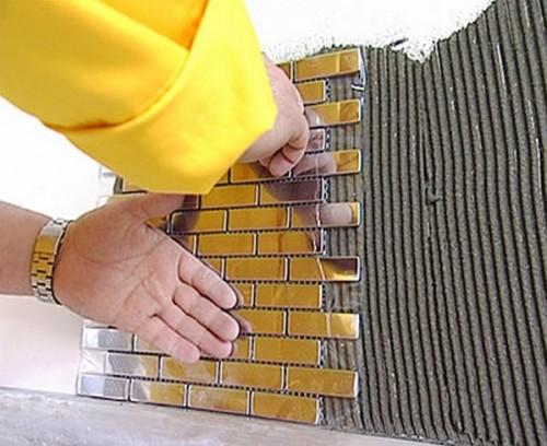Как клеить металлическую мозаику