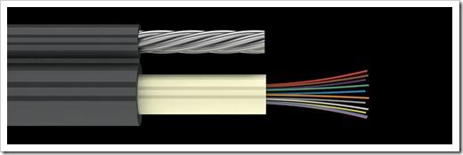 Осуществление монтажа самонесущего оптического кабеля на опорах
