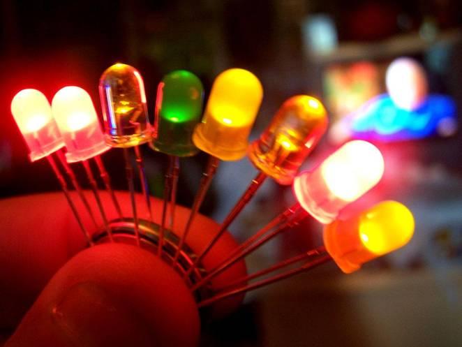 Используем отдельные светодиоды