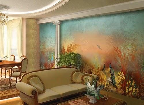Как клеить фреску на стену