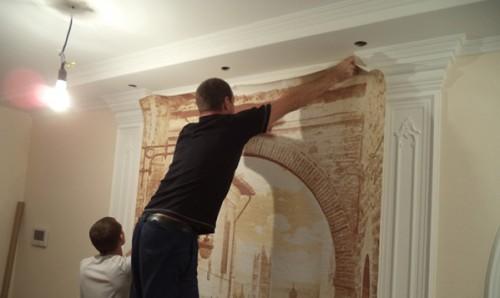 как клеить фреску