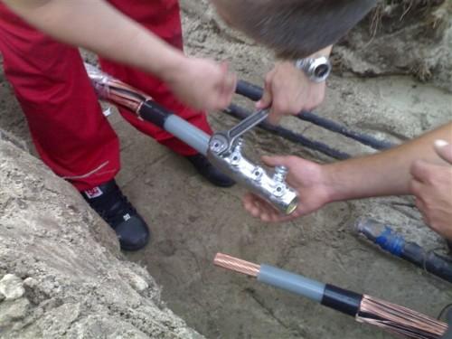 соединение медного и алюминиевого кабеля