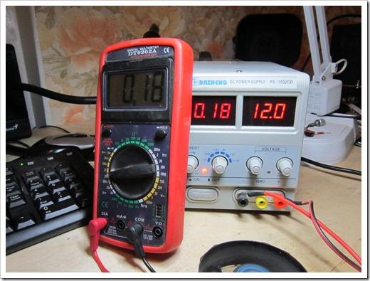 Измерение силы тока на потребителе