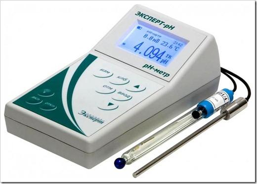 Из каких элементов состоит pH-метр?