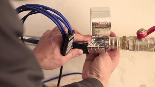 Монтаж кабеля для обогрева труб