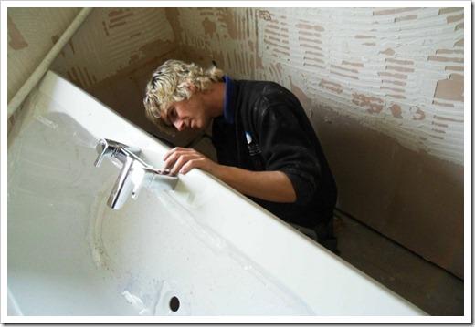 Подготовка к демонтажу ванны