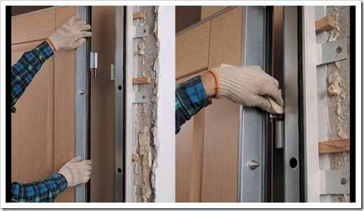 Принципы монтажа входной двери
