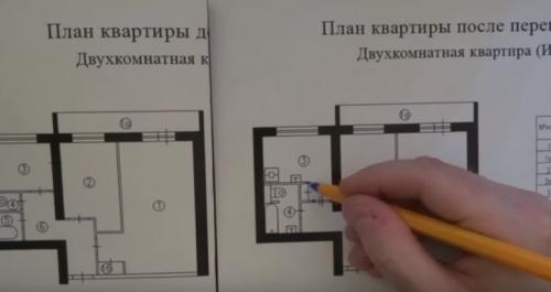 Варианты перепланировки двухкомнатной квартиры