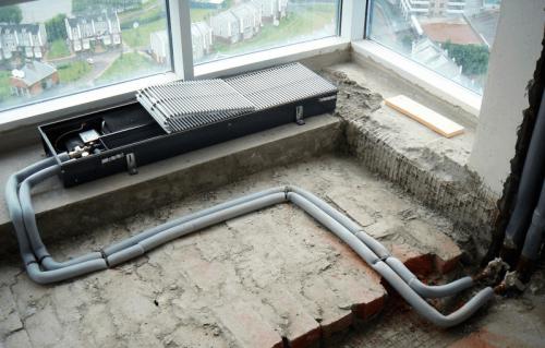 Монтаж внутрипольных конвекторов водяного отопления: инструкция