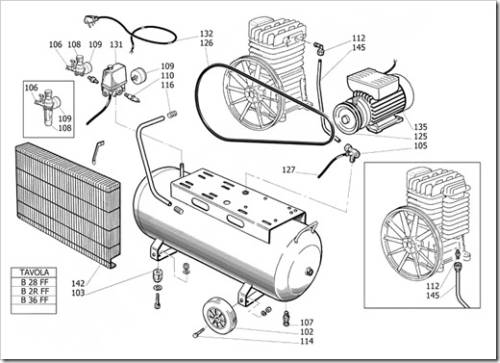 Виды запчастей для поршневых компрессоров