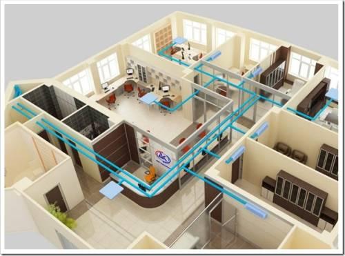 Этапы проектирования вентиляции в офисе