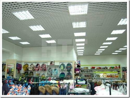 Схема, по которой создаётся освещение в магазине