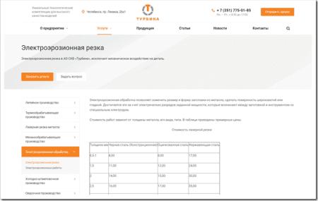 Обзор услуг электроэрозионной резки металла в Челябинске от компании АО СКБ «Турбина»