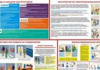 Виды плакатов по охране труда