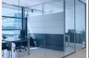 Технология монтажа офисных стеклянных перегородок