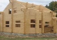 Технология строительства деревянного дома из оцилиндрованного бревна