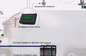 Установка датчика gps расхода топлива