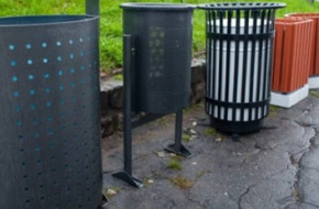 Виды уличных урн для мусора