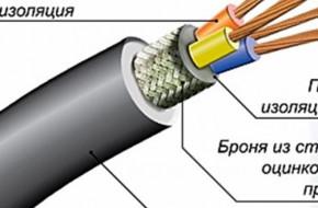 Свойства и характеристики силовых бронированных кабелей