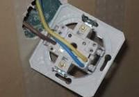 Как подключить двойной выключатель?